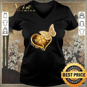 Original Butterfly cross faith hope love shirt sweater