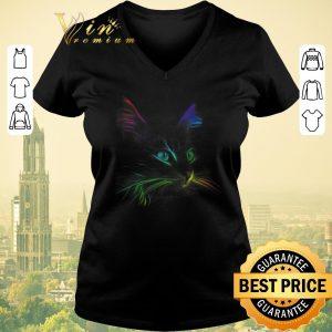 Original Color Cat Face LGBT shirt sweater