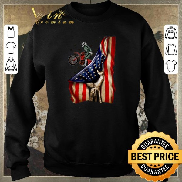 Original Fox Racing Mountain Bike Your Name American Flag shirt sweater