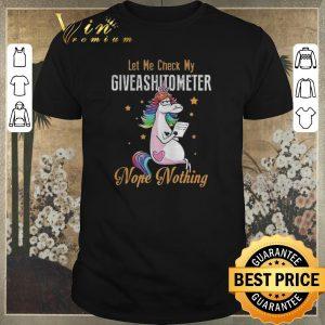 Original LGBT Unicorn let me check my giveashitometer nope nothing shirt sweater