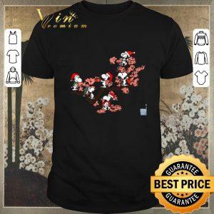 Original Snoopy under cherry blossom shirt sweater