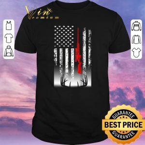 Original american flag sniper deer hunting shirt