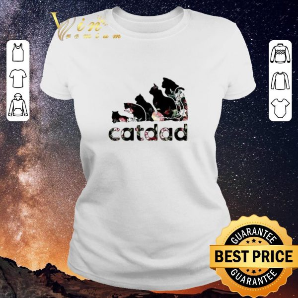 Premium Adidas catdad flower shirt sweater