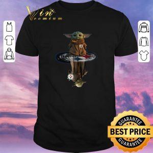 Premium Baby Yoda Master Pittsburgh Steelers reflection mirror water shirt sweater