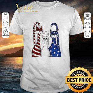 Premium Cat USA flag American shirt