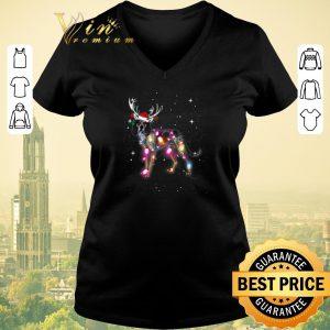 Premium Christmas Lights Coonhound santa reindeer shirt