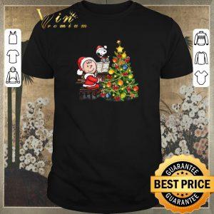 Premium Christmas tree Peanuts Snoopy Charlie Brown shirt