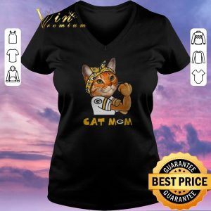 Premium Green Bay Packers Strong Cat Mom shirt