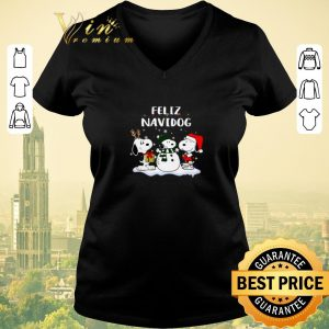 Pretty Christmas Snoopy Feliz Navidog shirt