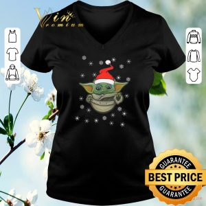 Pretty baby yoda snow merry christmas the mandalorian shirt sweater