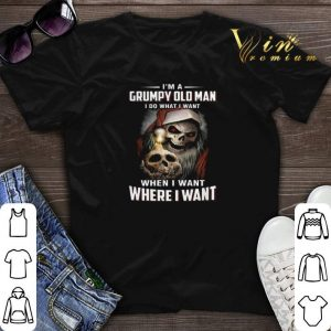 Skull santa I'm a Grumpy old man i do what i want when i want shirt sweater