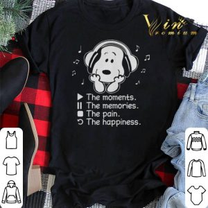 Snoopy the moment the memories the pain the happiness shirt sweater