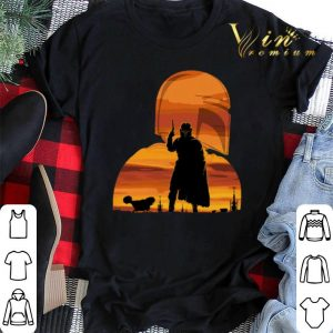 Sunset The Mandalorian Gunfighter Has Landed Star Wars shirt