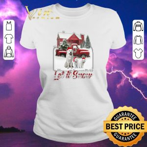 Top Christmas Great Pyrenees let it snow shirt