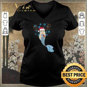 Top Christmas Mermaids Santa Hat & Reindeer Antlers Gift shirt sweater