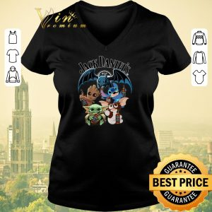 Top Jack Daniel's Baby Yoda Baby Groot and Toothless Stitch Gizmo shirt sweater 1