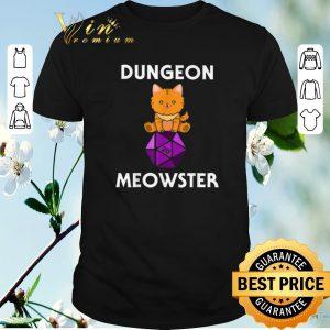 Top Nerdy Cat Dungeon Meowster D20 shirt sweater