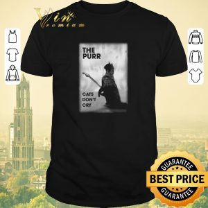 Top The purr cats don't cry guitar shirt sweater