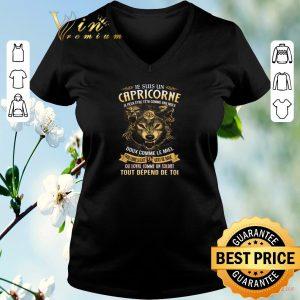 Top Wolf je suis un capricorne je peux etre tetu comme une mule doux shirt sweater