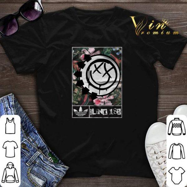adidas Blink-182 floral shirt sweater