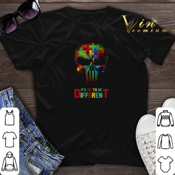 Autism It's OK To Be Different Punisher Skull shirt sweater