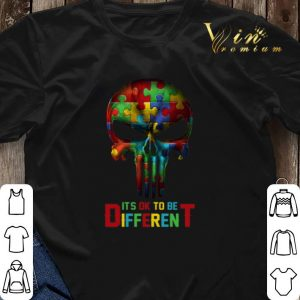 Autism It's OK To Be Different Punisher Skull shirt sweater 2