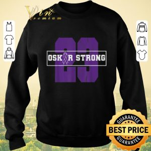 Awesome 23 Purple Ribbon Oskar Strong Fight Against Cancer shirt sweater 2