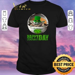 Awesome Baby Yoda Happy Saint Patrick's Day Star Wars Mandalorian shirt sweater