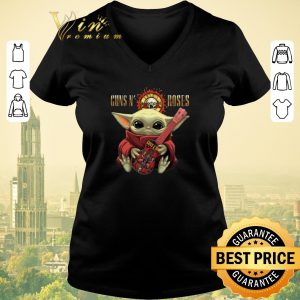 Awesome Baby Yoda hug Guns N' Roses guitar Star Wars shirt sweater