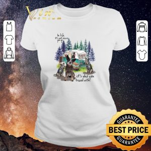 Awesome Heeler camping in life it's not where you go it's who you travel shirt sweater