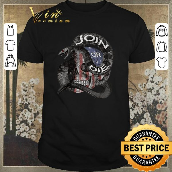 Awesome Join Or Die Snake Skull American Flag shirt sweater