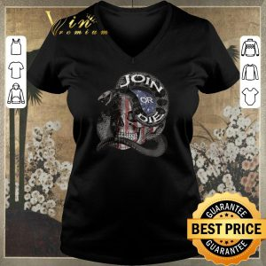 Awesome Join Or Die Snake Skull American Flag shirt sweater 1
