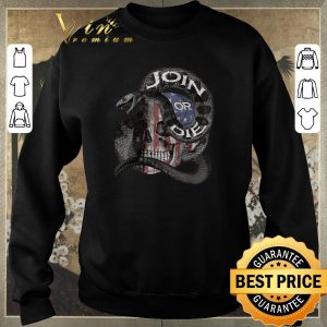 Awesome Join Or Die Snake Skull American Flag shirt sweater 2