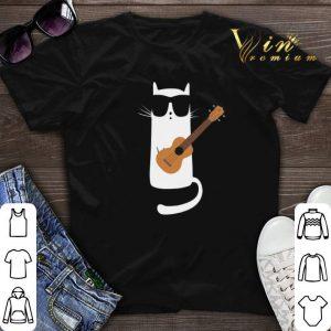 Cat Wearing Sunglasses Playing Ukulele.png sweater