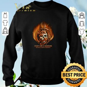 Dragon skull fight like a warrior multiple sclerosis awareness shirt sweater 2