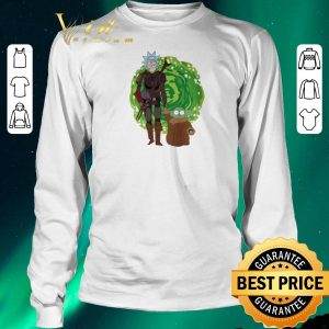 Funny The Mandalorian and Baby Yoda Crossover Rick and Morty The Child shirt sweater 2