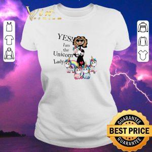 Funny Unicorns Yes I Am The Unicorn Lady shirt sweater