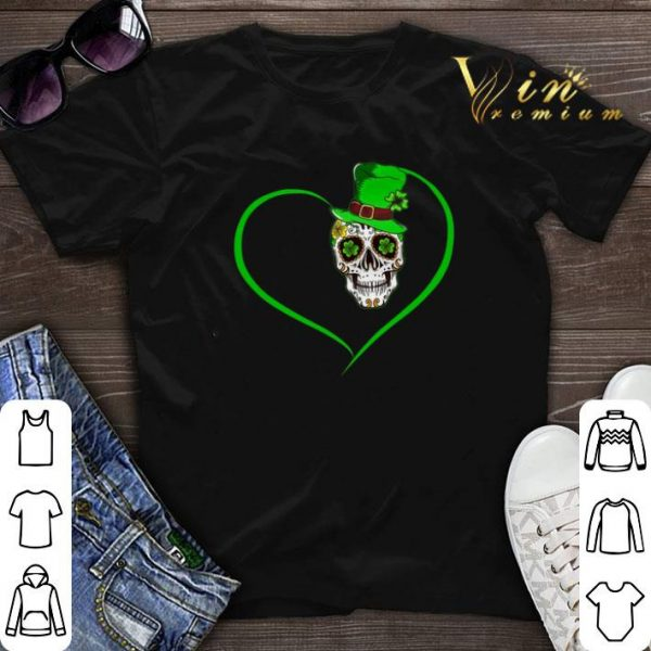 Heart Happy St Patrick's Day Love Sugar Skull.png sweater
