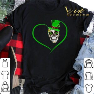 Heart Happy St Patrick's Day Love Sugar Skull.png sweater 1