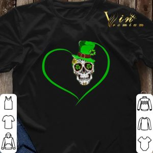 Heart Happy St Patrick's Day Love Sugar Skull.png sweater 2