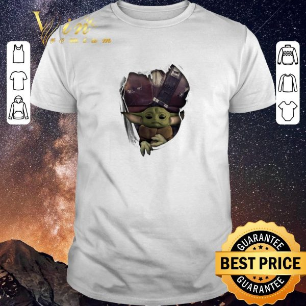 Hot Baby Yoda The Mandalorian Torn Paper Star Wars shirt sweater