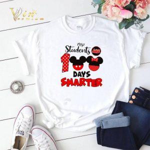 My students are 100 days smarter Mickey Minnie mouse shirt sweater