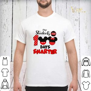 My students are 100 days smarter Mickey Minnie mouse shirt sweater 2