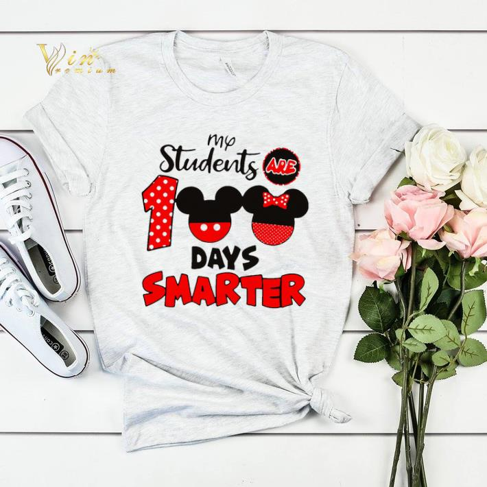 My students are 100 days smarter Mickey Minnie mouse shirt sweater 4 - My students are 100 days smarter Mickey Minnie mouse shirt sweater