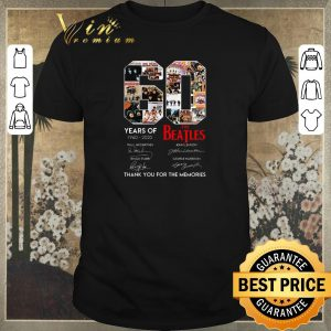 Nice 60 Years Of The Beatles 1960 2020 Thank You For The Memories shirt sweater