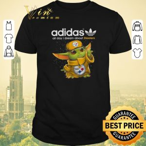 Nice Baby Yoda adidas all day i dream about Pittsburgh Steelers shirt sweater