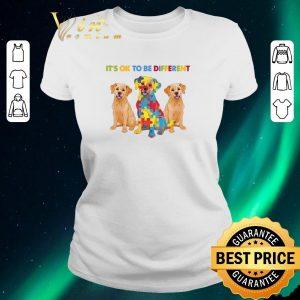 Nice Golden Retriever It's ok to be different Autism Awareness shirt sweater