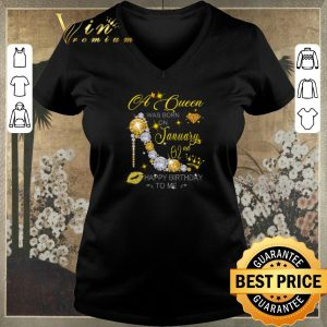 Official Diamond a queen was born on January 02nd happy birthday to me shirt sweater