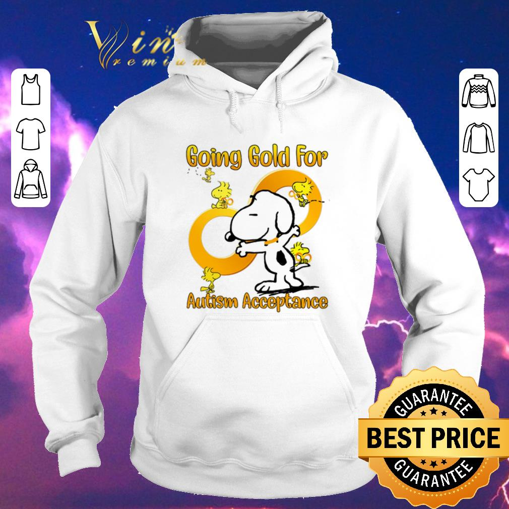 Official Snoopy and Woodstock going gold for Autism acceptance shirt sweater 4 - Official Snoopy and Woodstock going gold for Autism acceptance shirt sweater