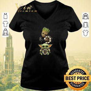 Original Baby Yoda and Baby Groot hug Boston Bruins Star Wars shirt sweater